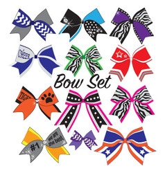 cheerleader bow set vector image vector image