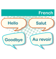 different expressions in french language vector image vector image