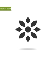 Floral flat icon symbol Silhouette flower vector image vector image