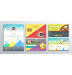 Infographic business brochures banners vector image vector image