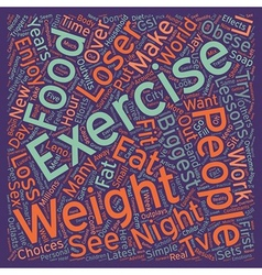 Lessons From The Biggest Loser text background vector image vector image