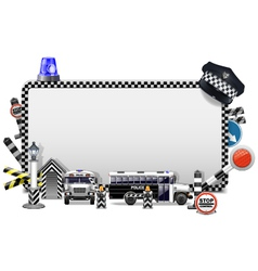 Police Frame vector image vector image