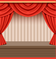 retro theater scene background design with red vector image