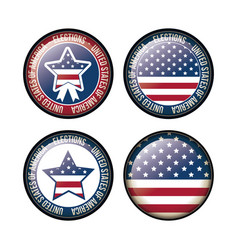 Usa flag and star button of vote concept vector