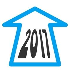 2017 Ahead Arrow Flat Icon vector image