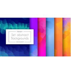 A set trending patterns purple ultraviolet vector