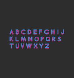 alphabet set 3d design elements vector image