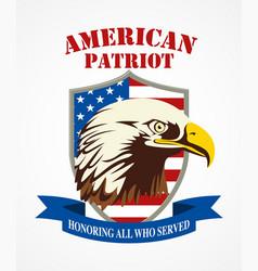 American patriot coat arms vector