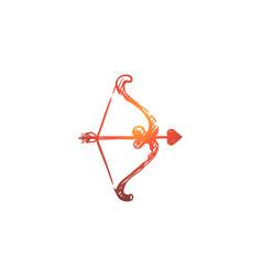 amour arrow amorousness love romantic concept vector image