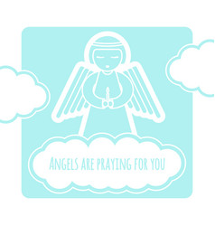 angel greeting card template vector image