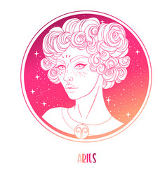 Aries astrological sign as a vector