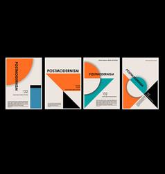 artworks posters inspired postmodern vector image