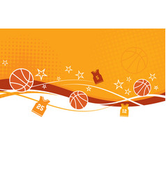 Basketball background with jerseys vector