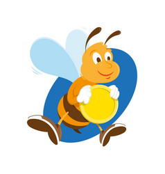bee keep gold coin vector image