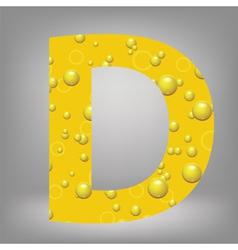beer letter D vector image