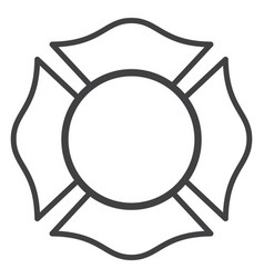 Blank fire rescue department logo base vector