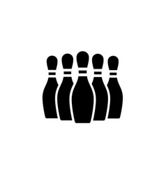 Bowling pins flat icon vector