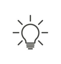 bulb light icon line lamp on symbol vector image
