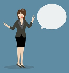 Business woman talking with body language vector image