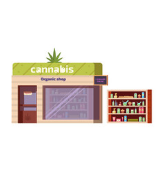 cannabis store marijuana products in organic shop vector image