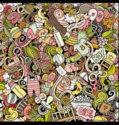 cartoon cute doodles hand drawn vector image