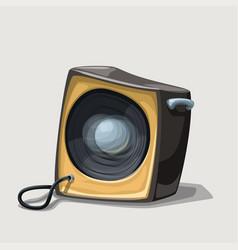 Cartoon speaker on white background vector