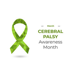 Cerebral palsy awareness month march concept vector