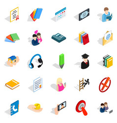Chat icons set isometric style vector