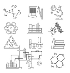 chemical laboratory science and technology thin vector image