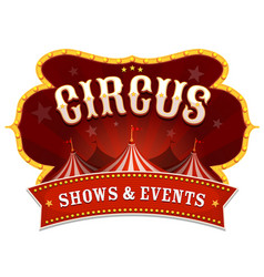 Circus banner with big top vector