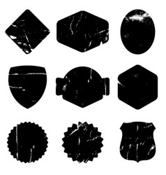collection retro grunge shapes vintage postal vector image