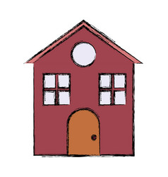colored house vector image