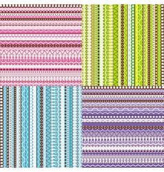 Colored set of patterns vector