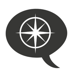 compass guide equipment isolated icon vector image vector image