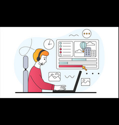 Creating animations concept vector