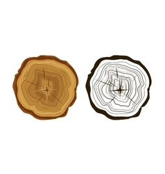 Cut tree icons tree rings vector