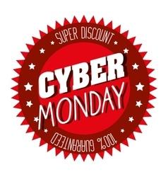 Cyber monday emblem super discount vector