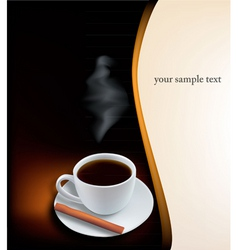 desing with coffee vector image