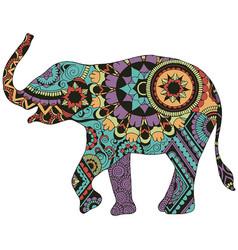Elephant with oriental decor vector
