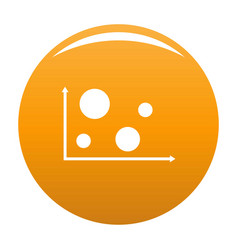 finance diagram icon orange vector image