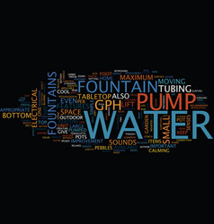 Fountains refreshment text background word vector