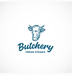 fresh steak butchery abstract sign symbol vector image