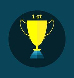 Golden Cup Soccer Reward vector