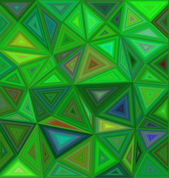 Green irregular triangle mosaic background design vector image