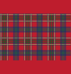 Green red classic tartan check seamless fabric vector