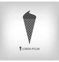 Grey ice-cream vector