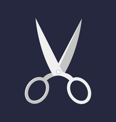 hairdresser handle shape line work art scissors vector image