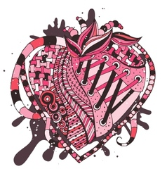 hand drawn abstract heart vector image