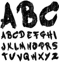 Hand Drawn Brush Font Grungy vector image