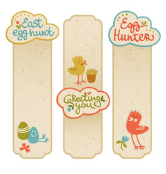 happy easter cartoon banners vector image